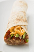 Burrito with cheese and avocado