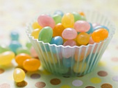 Coloured jelly beans for Easter
