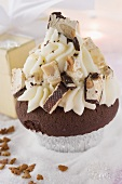Cupcake with almond nougat for Christmas