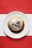 Yeast dumpling with poppy seeds, sugar & butter (Austria)