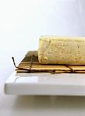 Tofu on bamboo mat