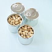 Pistachios in tins