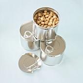 Peanuts in tins