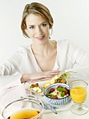 Woman with a healthy breakfast