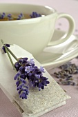 Lavender tea with lavender flowers