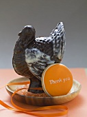 Chocolate turkey and biscuit for Thanksgiving (USA)