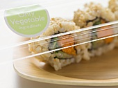 Vegetarian inside-out rolls to take away