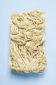 Egg noodles removed from the packaging