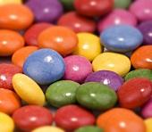 Coloured chocolate beans (full-frame)
