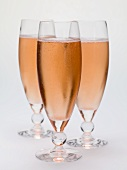 Three sparkling wine cocktails