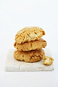Three almond biscuits