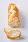 Baguette, partly sliced