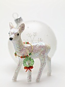 Christmas decorations (deer and Christmas bauble)