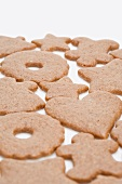 Assorted gingerbread biscuits for Christmas