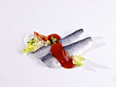 Herring fillets with tomato sauce