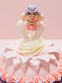 Small cake with clown figure for children