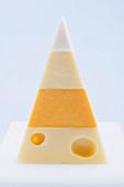 Pyramid of hard cheeses