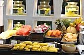 Fresh fruit on a breakfast buffet (Thailand)