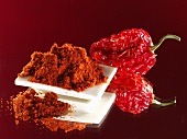 Paprika and dried red pepper