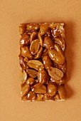 A bar of peanut brittle