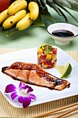 Teriyaki Salmon with Mango Salsa