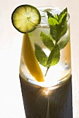 Cocktail with Lime, Mint and Mango