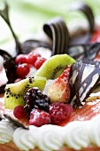 Fruit and chocolate (cake decoration)