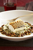 Baked Cod over Beans