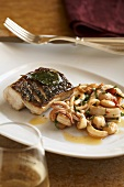 Grilled Fish with Calamari