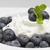 Greek Yogurt with Blueberries and Mint