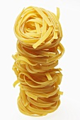 A tower of mie noodles