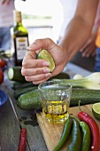 Making lime marinade