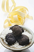 Black truffles (Chinese truffles), risotto rice, ribbon pasta