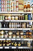 Jars of food in supermarket (Sweden)