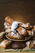 Various types of rustic bread