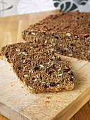 Wholegrain bread, partly sliced
