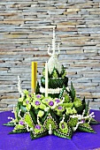 Flower arrangement for Loy Krathong (Festival of Light, Thailand)