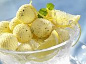 Lemon butter on ice