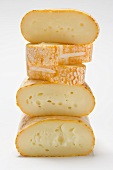 Cow's milk cheeses, stacked