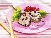 Poultry pâté with redcurrants