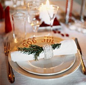 Christmas place-setting (Sweden)