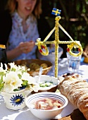 Traditional midsummer buffet (Sweden)