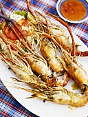 Seafood platter with chilli sauce
