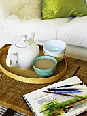 Tea on coffee table