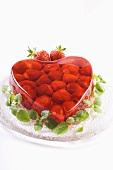 Heart-shaped strawberry jelly