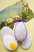Sugar egg, Easter bicuits and Easter card