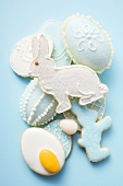 Assorted Easter biscuits and sugar eggs