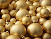 Gold Christmas baubles