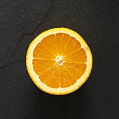 Half an orange from above