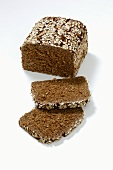 Finnenbrot (wholegrain bread with seeds), partially sliced